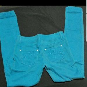 Turquoise Denim Jeans